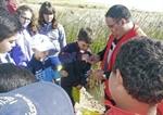 Voluntarios participantes de en las jornadas en el entorno del río Azuer/Lanza