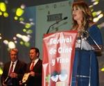 La actriz Miriam Díaz Aroca se mostró muy agradecida por el homenaje    Foto: GACETA