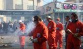 Lanzamiento de cohetes en Villarta de San Juan durante las fiestas de las Paces