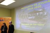 Encarni Medina, presentando el programa de ayudas